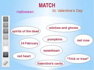 MATCH Halloween St. Valentine's Day sweetheart red rose Valentine's cards red