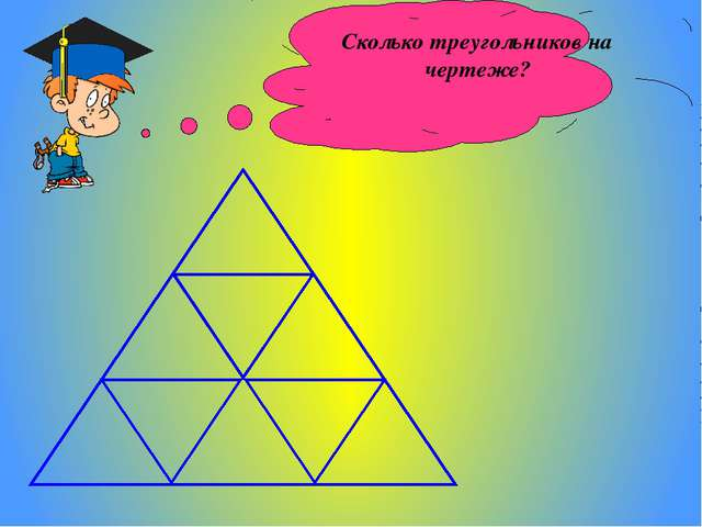 Сколько треугольников на чертеже?
