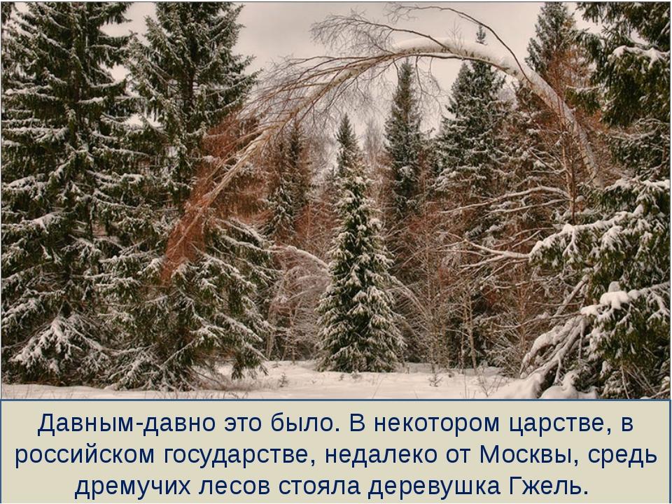 Давным-давно это было. В некотором царстве, в российском государстве, недалек...