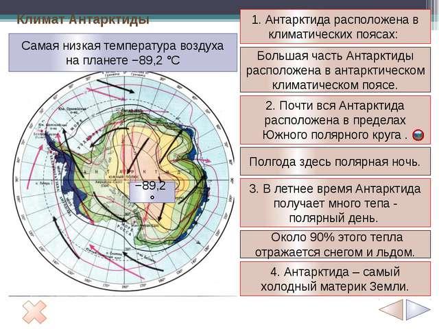 1 2 3 4 5 Антарктида - часть древнего материка Гондваны. Массив Винсон 5140м....