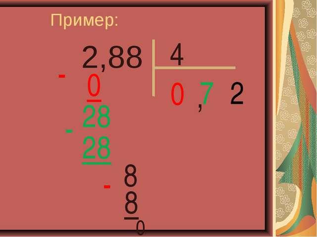 2,88 Пример: 4 0 0 - 7 28 28 - 8 , 2 8 - 0