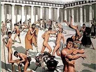 Выводы: Олимпия была центром спортивных состязаний. Игры объединяли древних г