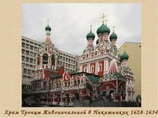Храм Троицы Живоначальной в Никитниках 1628-1634