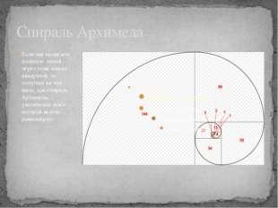 Спираль Архимеда Если мы проведём плавную линий через углы наших квадратов, т