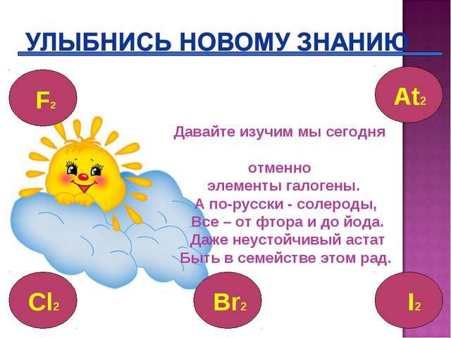 Давайте изучим мы сегодня отменно элементы галогены. А по-русски - солероды,...