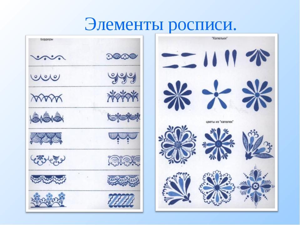 Элементы росписи.