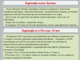 В российской глубинке картофель сначала не прижился. Крестьяне называли карт