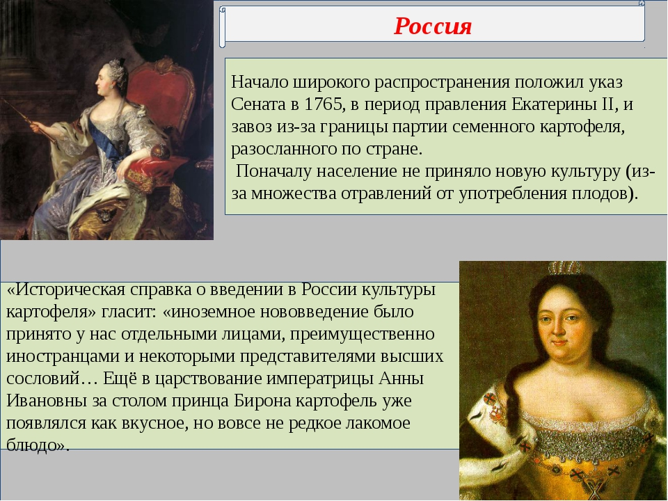 Начало широкого распространения положил указ Сената в 1765, в период правлен...