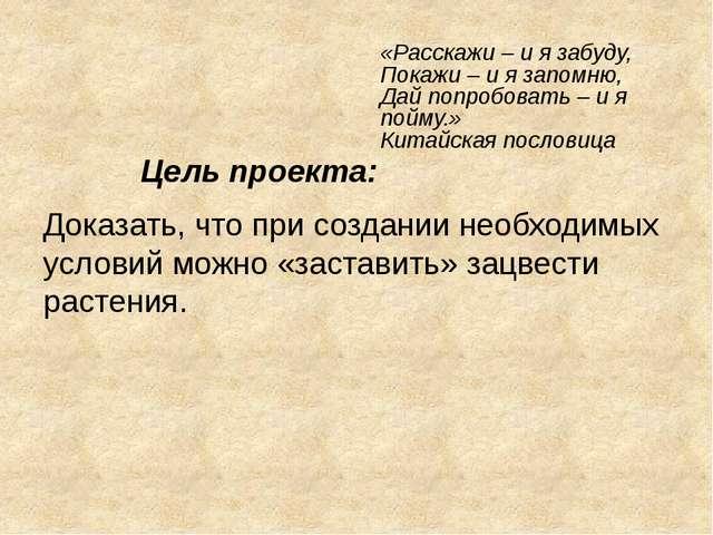 «Расскажи – и я забуду, Покажи – и я запомню, Дай попробовать – и я пойму.» К...