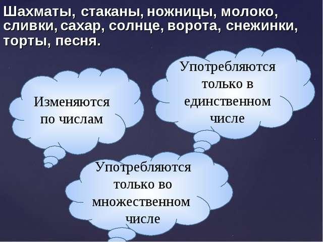 Изменяются по числам Употребляются только в единственном числе Употребляются...