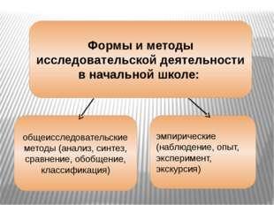 Формы и методы исследовательской деятельности в начальной школе: общеисследов