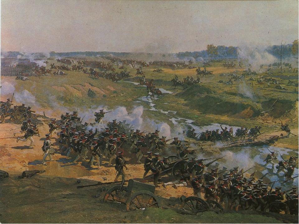 Во время Бородинского сражения Александров был на передовой, бросался в самую...