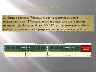 32-битные системы Windows чисто теоретически могут использовать до 4 Гб опера