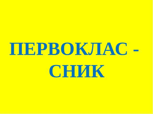 ПЕРВОКЛАС - СНИК
