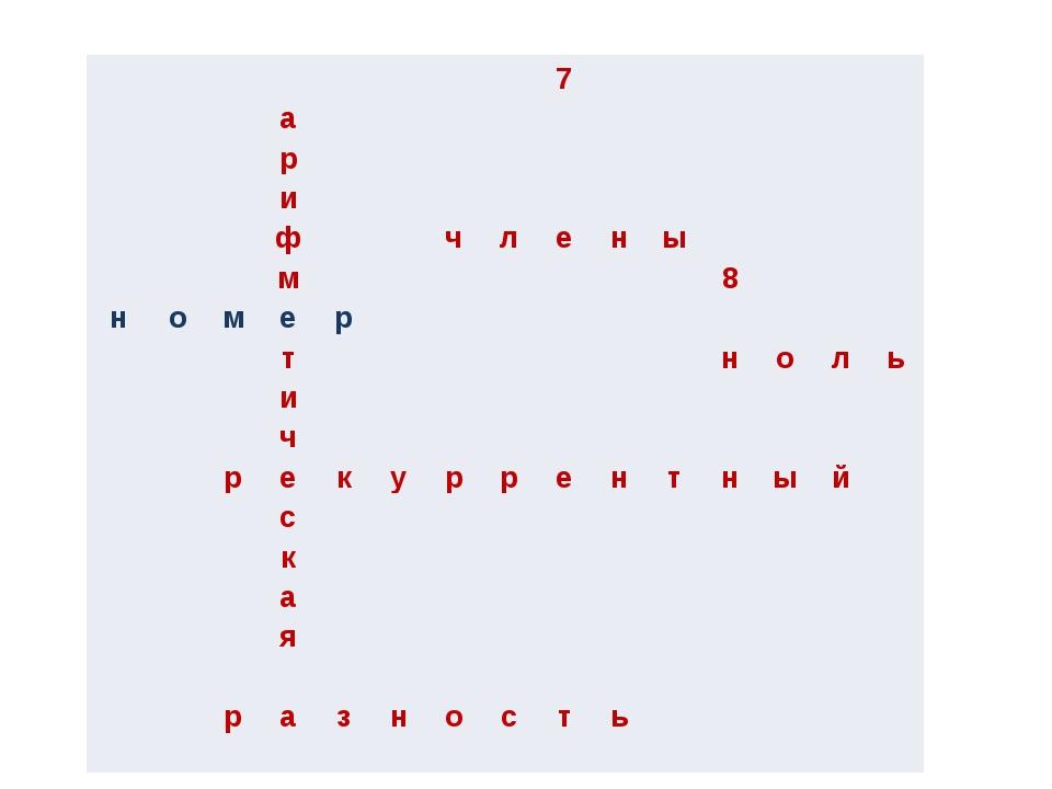 7 а р и ф ч л е н ы м 8 н о м е р т н о л ь и ч р е к у р р е н т н ы й с к...