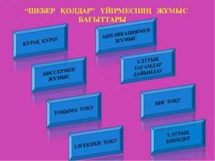 """""""ШЕБЕР ҚОЛДАР"""" ҮЙІРМЕСІНІҢ ЖҰМЫС БАҒЫТТАРЫ"""