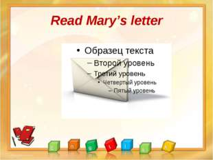 Read Mary's letter