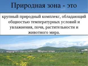 * крупный природный комплекс, обладающий общностью температурных условий и ув