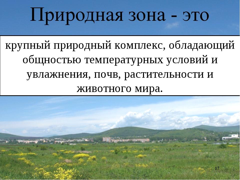 * крупный природный комплекс, обладающий общностью температурных условий и ув...