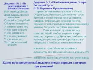Документ № 2 «Об обложении данью Северо-Восточной Руси» (Н.М.Карамзин. Предан