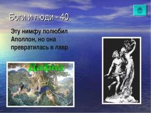 Боги и люди - 40 Эту нимфу полюбил Аполлон, но она превратилась в лавр