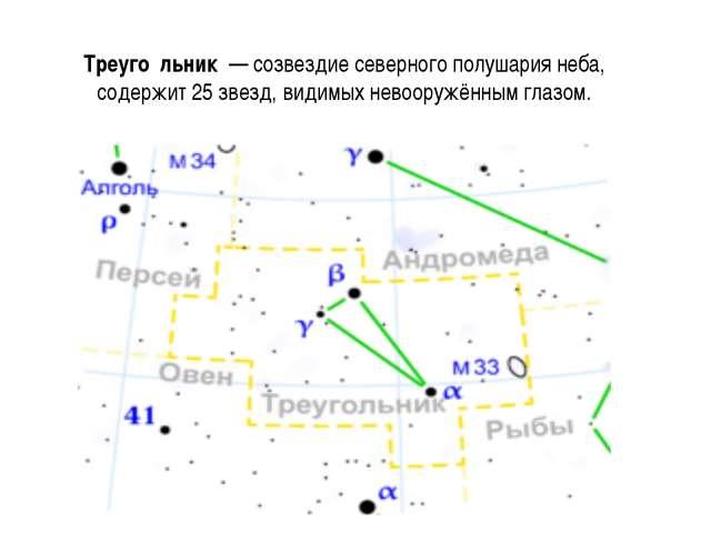 Треуго́льник — созвездие северного полушария неба, содержит 25 звезд, видимых...