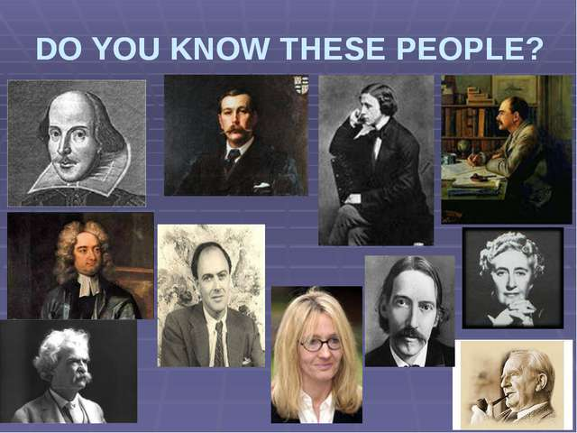 DO YOU KNOW THESE PEOPLE? DO YOU KNOW THESE PEOPLE?