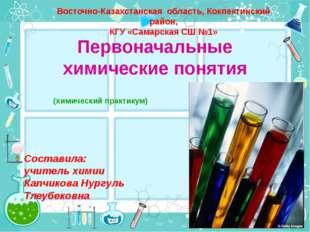 Первоначальные химические понятия (химический практикум) Восточно-Казахстанск