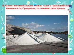 В Казахстане наибольшие запасы соли в Прикаспийской низменности, Приаралье, п