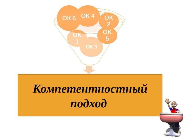 Компетентностный подход ОК 5 ОК 4 ОК 6