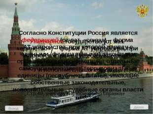 Административно-территориальное устройство России Выход Проверь себя! Вопросы