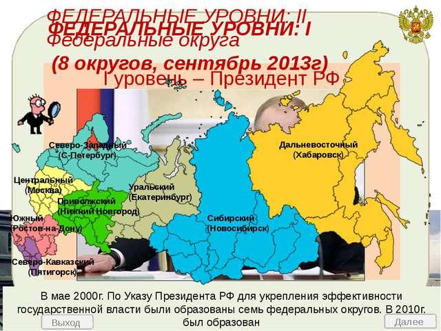 Согласно Конституции Россия является федерацией (от лат. «союз») – форма АТ у...