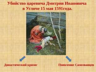 Убийство царевича Дмитрия Ивановича в Угличе 15 мая 1591года. Появление Самоз