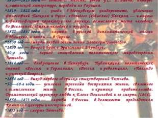 1803—1819годы— детство, юность, учеба уС. Е.Раича, интерес клатинской ли