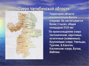 Озера Челябинской области. Территория области исключительно богата озерами. И