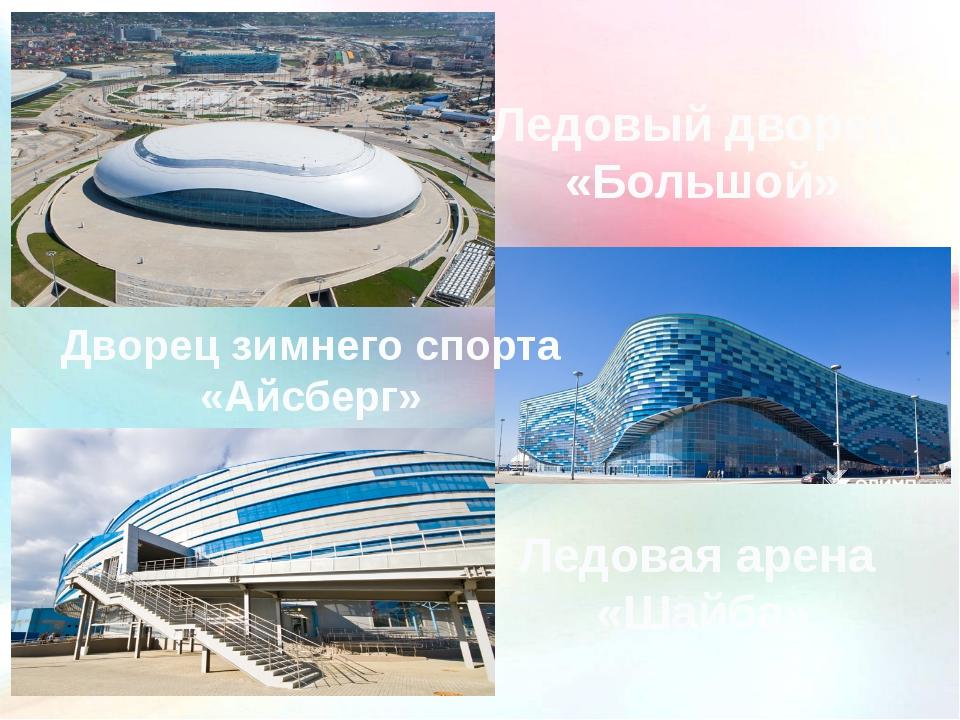 Ледовая арена «Шайба» Ледовый дворец «Большой» Дворец зимнего спорта «Айсберг»
