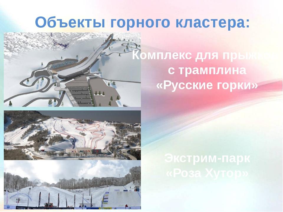 Объекты горного кластера: Комплекс для прыжков с трамплина «Русские горки» Эк...
