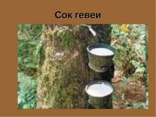 Сок гевеи