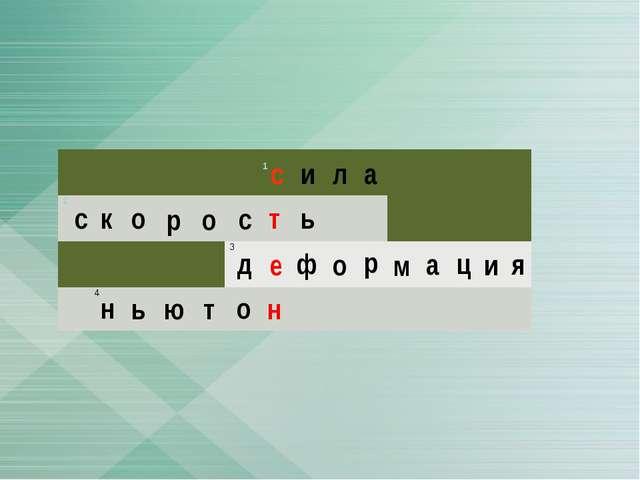 с и л а с к о р о т ь с д е ф о р м а ц и я н ь т о н ю  1  2   3  4