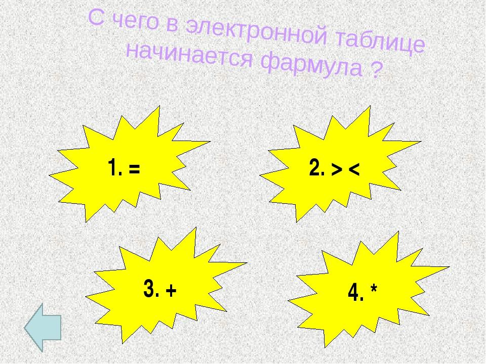 Как называется ячейка, с которой производится какое-то действие? А) активная;...