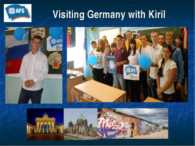 Visiting Germany with Kiril