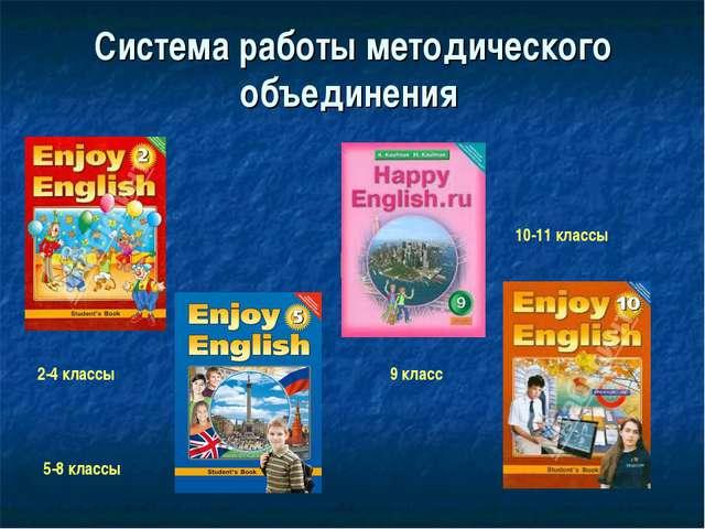 Система работы методического объединения 2-4 классы 5-8 классы 9 класс 10-11...