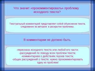 Что значит «прокомментировать» проблему исходного текста? Текстуальный коммен