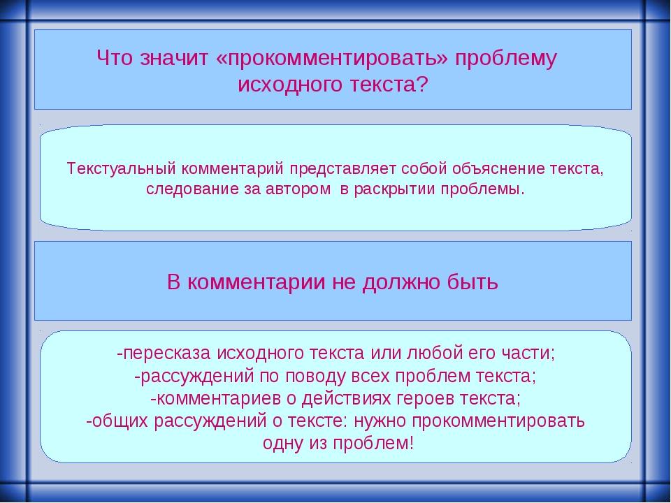 Что значит «прокомментировать» проблему исходного текста? Текстуальный коммен...