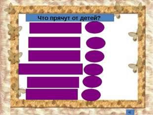 спички 58 Лекарства Конфеты Острые предметы всё Книги 12 6 6 3 2 Что прячут о