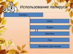 Использование папируса