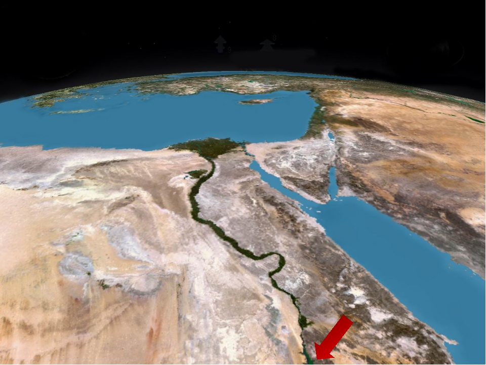 Река на северо-востоке Африки. НИЛ