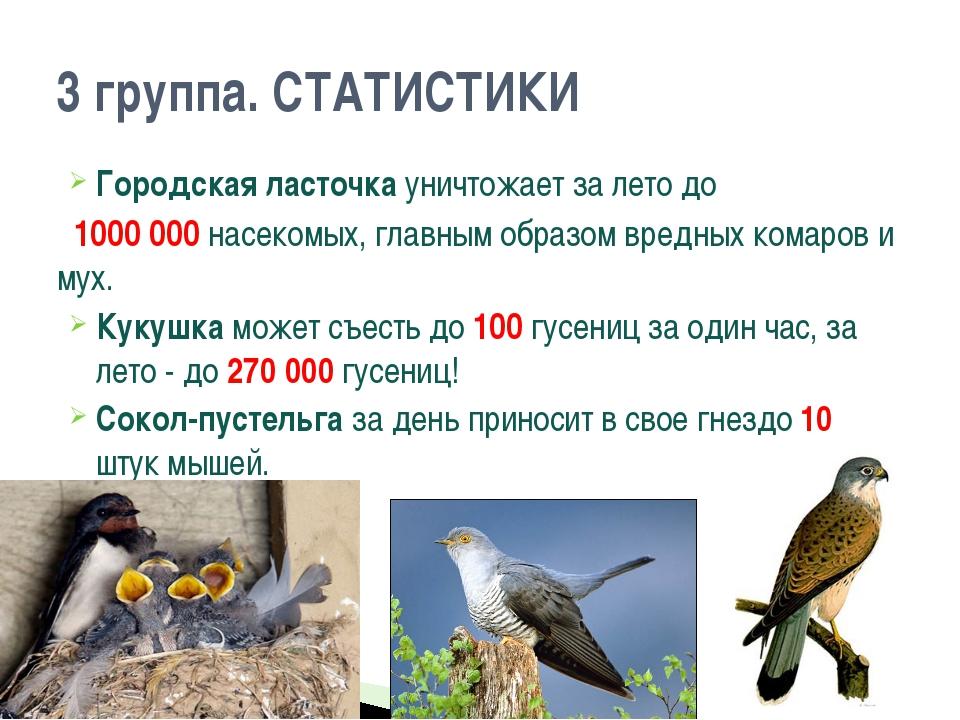 Городская ласточка уничтожает за лето до 1000 000 насекомых, главным образом...