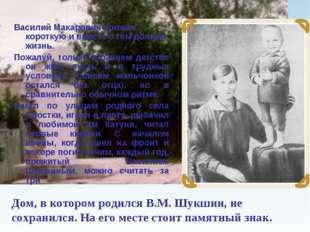 Дом, в котором родился В.М.Шукшин, не сохранился. На его месте стоит памятны