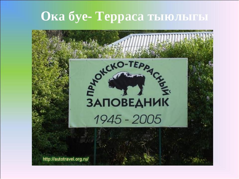 Ока буе- Терраса тыюлыгы